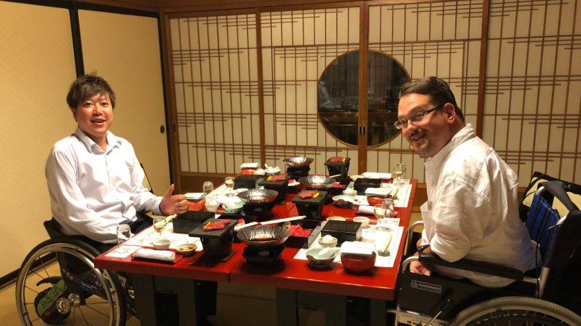 Dinner at Gotenmori Onsen
