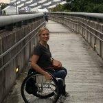 Wheelchair entrance to Tokyo Stadium
