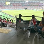 Wheelchair seating at Tokyo Stadium