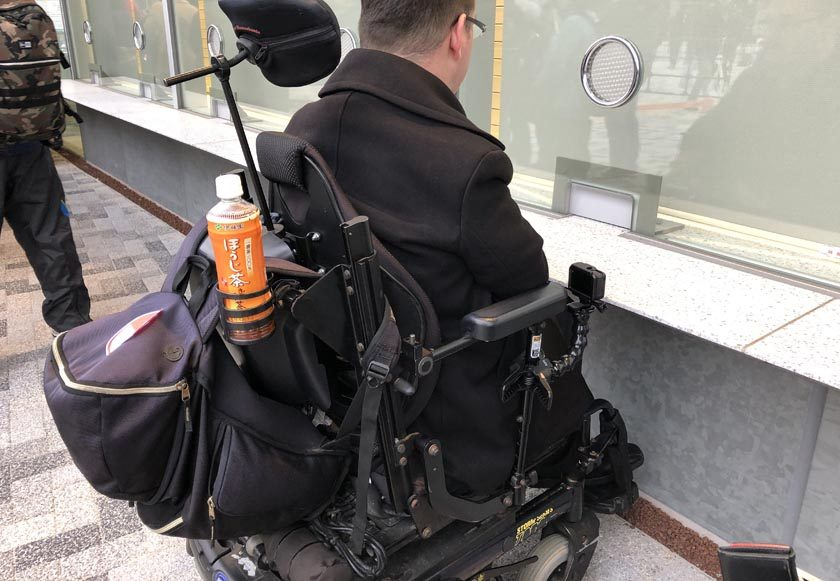 Ticket window with wheelchair access