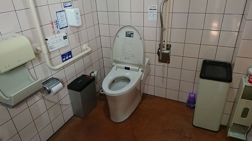 Karoichi Fish Market indoor toilet