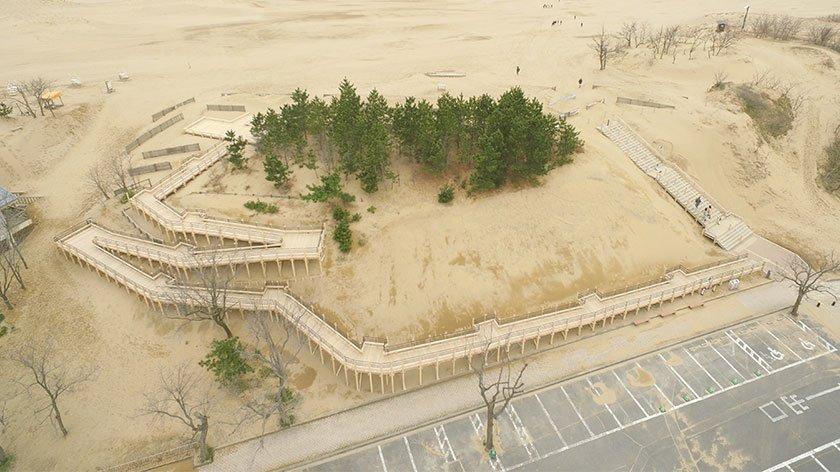Ramp up to Tottori Sand Dunes