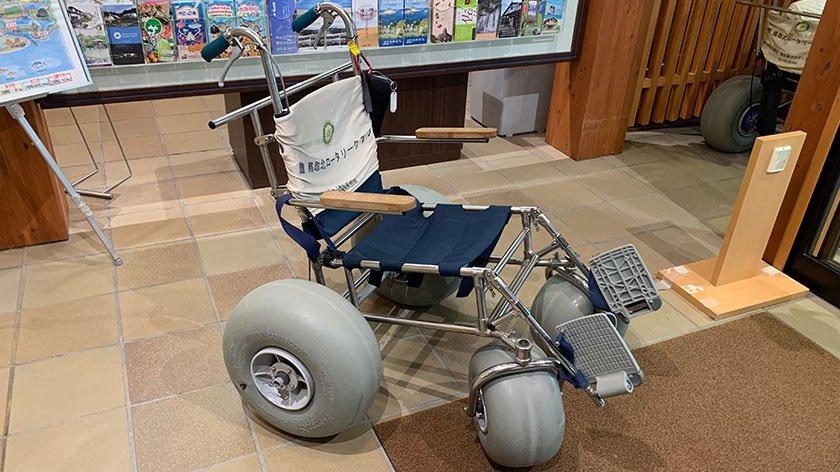 Tottori Sand Dunes sand wheelchair