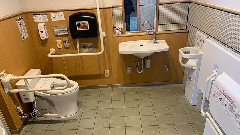 Accessible toilet at Tottori Sand Dunes Park Service Center