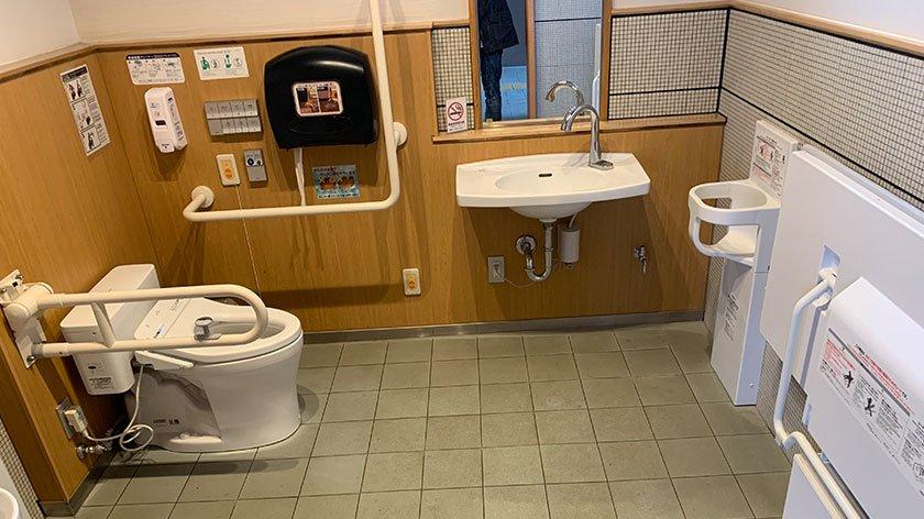 Accessible toilet at Tottori Sand Dunes Park Service Center