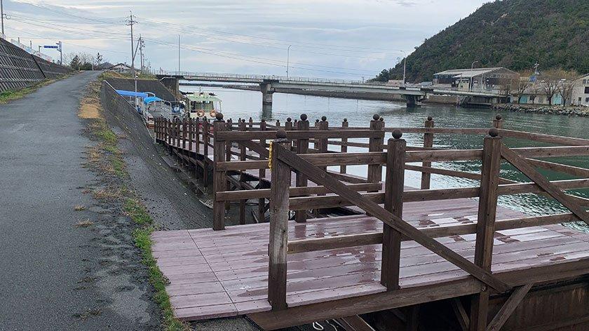 Uradome Coast Island Cruise ramp to pier
