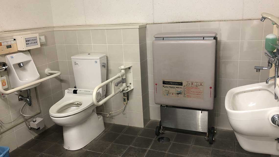 Accessible toilet at Churaumi Aquarium