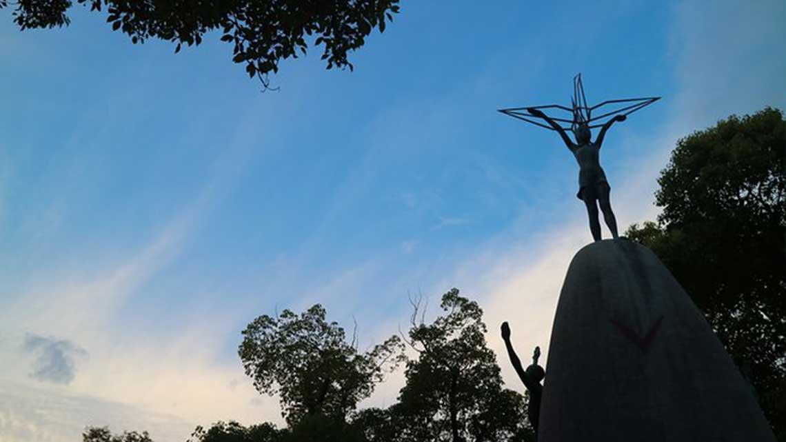 Statue at Hiroshima Peace Park