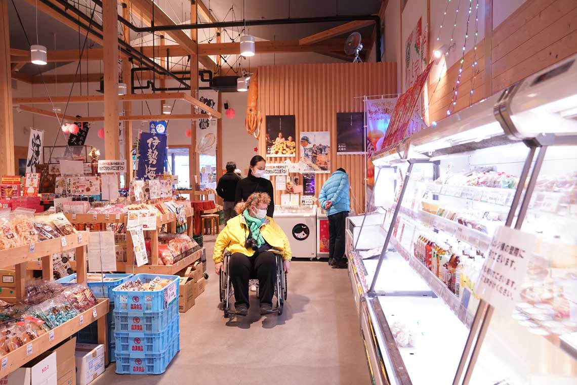 Shopping at Roadside station Nakatosa